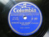 DINU LIPATTI Columbia 253 PIANO 78 SCARLATI Sonate En Re Mineur (PASTORALE)