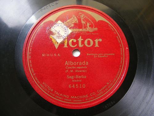 EMILIO SAGI - BARBA Victor 64510 SPANISH 1Side 78 ALBORADA