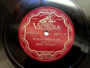 F CHALIAPIN Victrola 6822 OPERA 78rpm IN QUESTA TOMBA