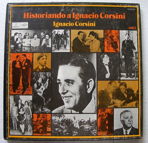 IGNACIO CORSINI Historiando Vol.1 CM 5234/6 TANGO 3xLP BOX SET ARGENTINA