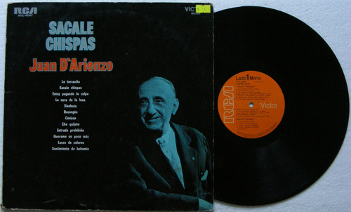 JUAN D'ARIENZO Sacale Chispas RCA VICTOR Avl 4047 Argentina MONO LP