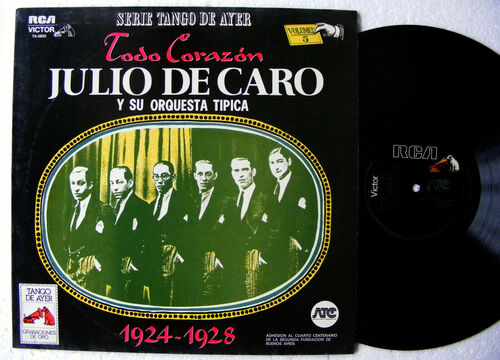 "JULIO DE CARO ""Todo Corazon""  RCA VICTOR 4805 TANGO ARGENTINA LP 1924-1928"