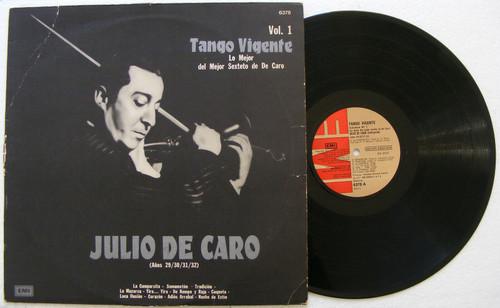 JULIO DE CARO Tango Vigente Vol. l & ll EMI ODEON Argentina LP