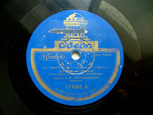 BETTENDORF sop MOERIKE dir ODEON 177001 78rpm VERDI