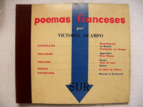 VICTORIA OCAMPO recites BAUDELAIRE, MALLARME, MUSSET Victor 1755/7 3x78 Set NM