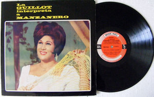 OLGA GUILLOT Interpreta MANZANERO Music Hall 12747 Argentina MONO LP