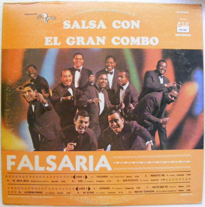 SALSA CON EL GRAN COMBO Flasaria GAS ING-1001 COLOURED BLUE LP NM