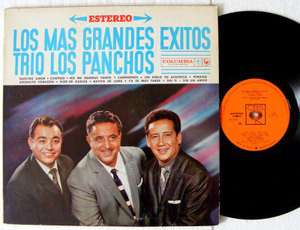 TRIO LOS PANCHOS Los Mas Grandes Exitos CBS 1066 MEX LP