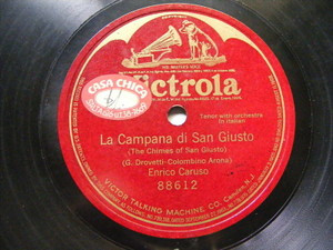 ENRICO CARUSO Victrola 88612 FASCIST HYMN 78 CAMPANA DI SAN GIUSTO