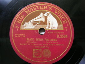 "12"" DUKE ELLINGTON hmv 35040 2x78 Set BLACK BROWN and BEIGE NM"