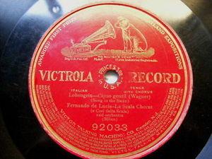 FERNANDO DE LUCIA Victrola 920033 OPERA 78 CIGNO GENTIL