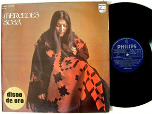 MERCEDES SOSA Disco De Oro PHILIPS 47208 Spain LP 1975