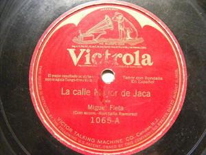 MIGUEL FLETA Victrola 1065 JOTAS 78 LA CALLE MAYOR DE JACA / SI FUERA UN AEROPLA