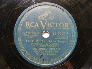 EDMUNDO RIVERO Victor 68-1007 TANGO 78 LA CUMPARSITA / MARGOT