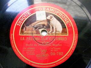 DE GOGORZA in SPANISH Gramophone DA-782 OPERA 78 LA PALOMA / LA GOLONDRINA
