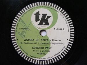 EDUARDO FALU Tk 5364 GUITAR 78rpm ZAMBA DE ANTA / LA ALBORADA