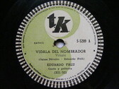 EDUARDO FALU Tk 5209 GUITAR 78rpm VIDALA DEL NOMBRADOR / OIGA COCHERITO