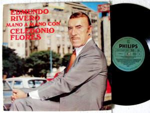 EDMUNDO RIVERO Mano a Mano Con CELEDONIO FLORES Philips 22001 TANGO ARG  LP 1983