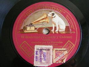 LA FORNARINA Gramophone 3-63096 78rpm EL PRIMER AMOR