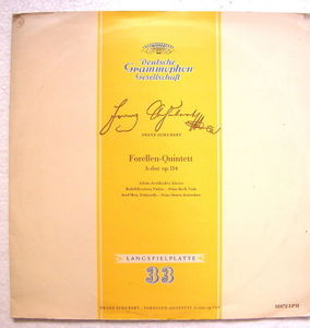 AESCHBACHER & KOECKERT Dgg Tulips 18072 SCHUHBERT Trout Quintet LP