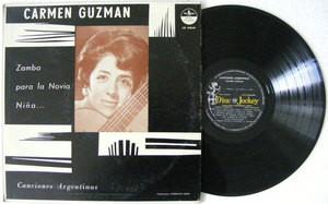 CARMEN GUZMAN Canciones Argentinas DISCJOCKEY 15048 Argentina LP