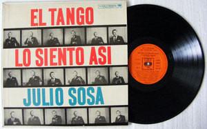 JULIO SOSA El Tango Los Siento Asi CBS 8340 Arg MONO LP EX