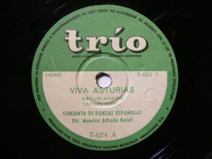 CONJ. DANZA ESPANOLAS Trio 24 78 VIVA ASTURIAS/BOLERAS