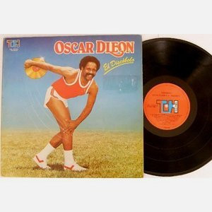 OSCAR D'LEON El Discobolo TH 07321 VENEZUELA SALSA LP EX 1982
