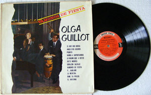 OLGA GUILLOT Vamonos De Fiesta MUSIC HALL 12578 Argentina MONO LP