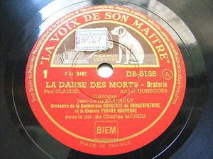 MUNCH, PANZERA, BARRAULT Gramophone 3x78 DANZE DE MORTS
