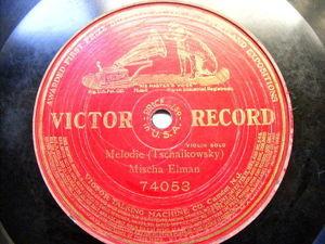 MISCHA ELMAN Victor 74053 VIOLIN 78 TSCHAIKOWSKY Melodie