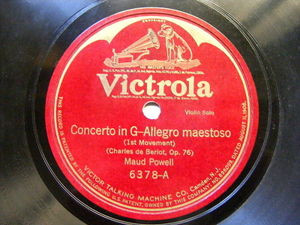 MAUD POWELL Victrola 6378 VIOLIN 78 BERIOT Concerto / HAVE PITY SWEET EYES