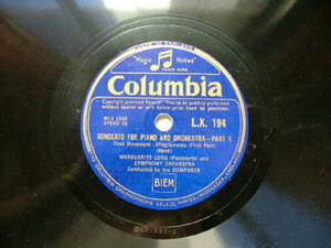 MARGUERITE LONG Columbia 194 PIANO 3x78rpm Set RAVEL