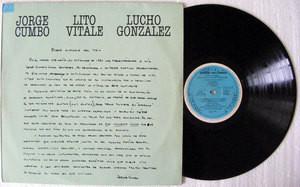 LITO VITALE, CUMBO & GONZALEZ Ciclo 3 3-0 21 RARE PROMO ARG LP 1984
