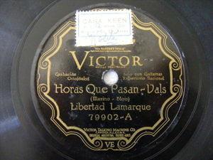LIBERTAD LAMARQUE Victor 79902 TANGO 78 HORAS QUE PASAN / UNA TARDE