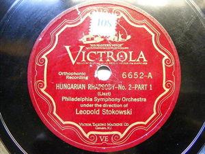 LEOPOLD STOKOWSKI Victrola 6652 78 HUNGARIAN RAPSHODY