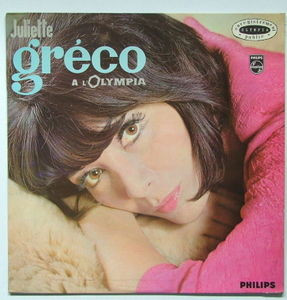 JULIETTE GRECO A L'Olympia PHILIPS 70342 FRENCH Mono LP NM