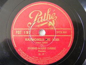 JEANNE-MARIE DARRE Pathe 197 PIANO 78 HARMONIES DU SOR