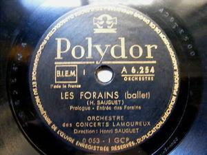 HENRI SAUGET Polydor 6254/6 3x78 BALLET Les Fourains