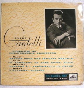 GUIDO CANTELLI hmv ALP 1207 MONO LP UK RAVEL, DEBUSSY, DE FALLA