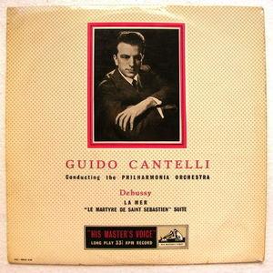 GUIDO CANTELLI hmv ALP 1228 MONO LP UK DEBUSSY La Mer