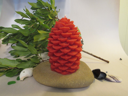100% beeswax pine cone, burn for 45 hours, great for long  family evening.