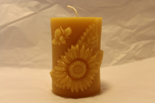sunflower bees pillar