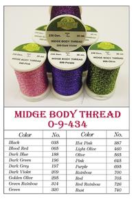 Fly Tying Iris Midge Rib Body Ribbing Material NEW! VEEVUS IRIDESCENT THREAD