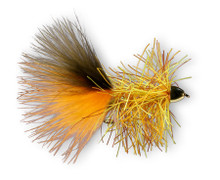 Montana Fly Rubber Bugger Hackle- Halloween Rubber Bugger
