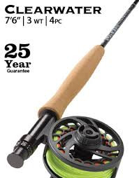 Orvis Clearwater 763-4 Fly Rod Complete Outfit