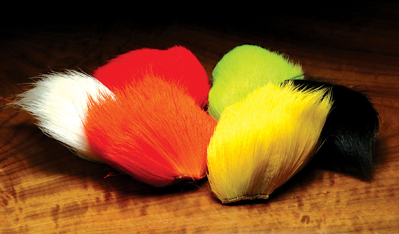 Fly Tying Dyed Deer Spinning Hair 6 Colors NEW! DEER BELLY HAIR COMBO PACK