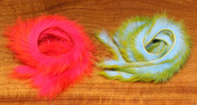"Hareline Two Toned Rabbit Strips 1/8"" (Alaskan Flame, Key Lime Baby Blue)"