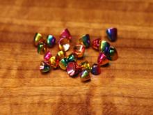 Rainbow Hued Brass Cones