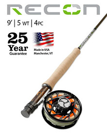 ORVIS RECON 5-WEIGHT 9' 4-PIECE FLY ROD (Complete Outfit)